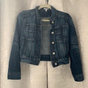 Express Cropped Denim Jacket